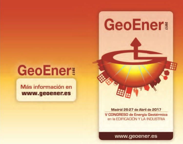 GeoEner 2017: Congreso de Energía Geotérmica en la Edificación y la Industria