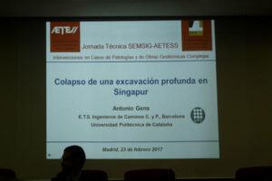 Mesa de Diseño de la 17ª Sesión Jornadas Técnicas SEMSIG-AETESS