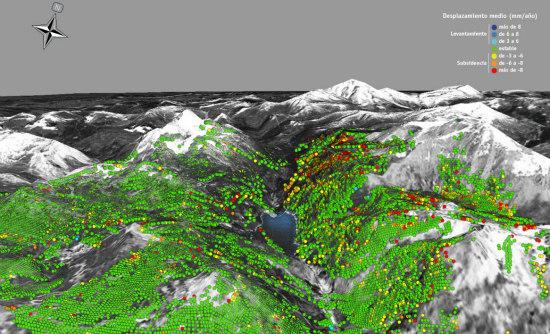 El movimiento del terreno controlado al milímetro con tecnología satelital