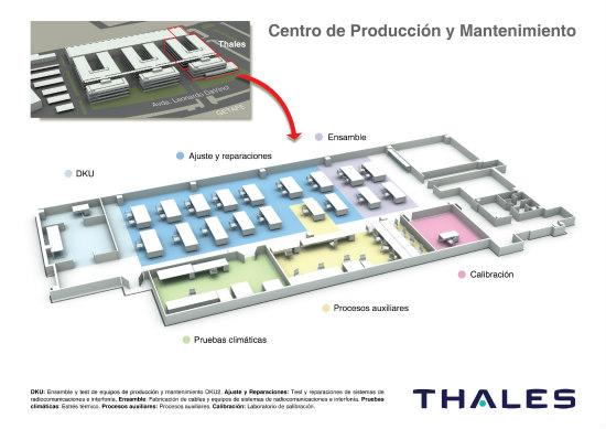 La alcaldesa de Getafe visita las instalaciones de Thales en el municipio